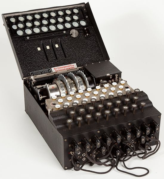 "Military Enigma machine, model ""Enigma 1"", used during the late 1930s and during the war"