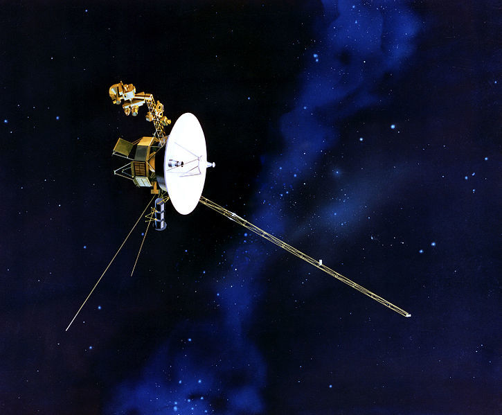 An artist's rendition of Voyager 1 probe
