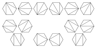 All the triangulations for \( n = 4 \)