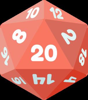 An icosahedron die