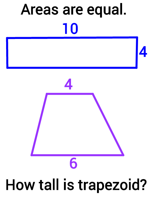 Area From Rectangles to Parallelograms and Trapezoids