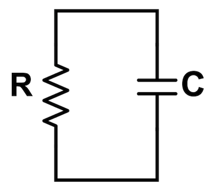 This is the diagram of a basic discharging RC circuit.