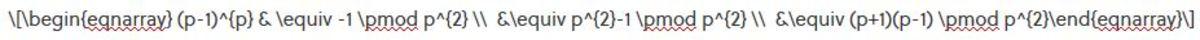 The Latex for the equation that I wrote :)
