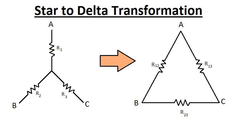 Transformation of Resistances (Star to Delta and Delta to Star