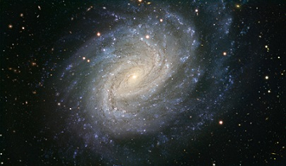 Image of the spiral galaxy NGC1187 taken from [1], demonstrating the structure described above.