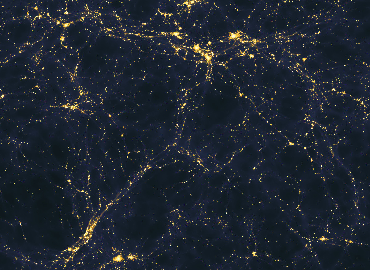 Computer simulation of large-scale structure of light sources in the universe .