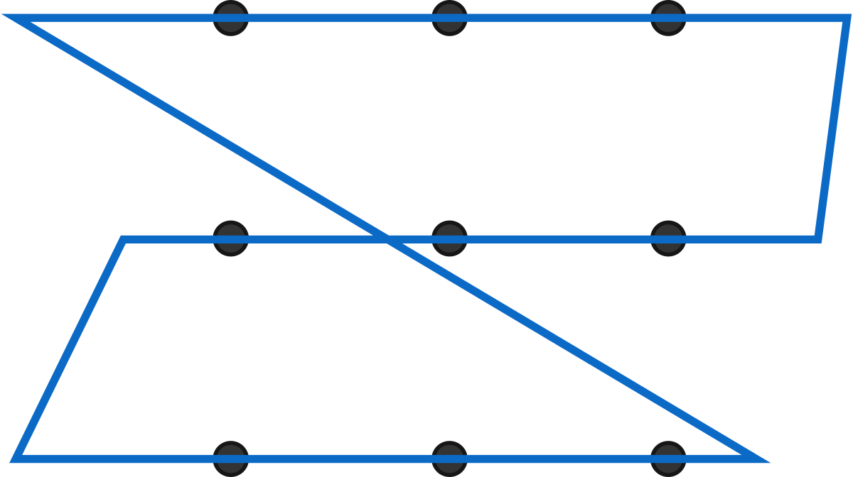 This closed loop meets the requirements, but can we do with fewer segments?