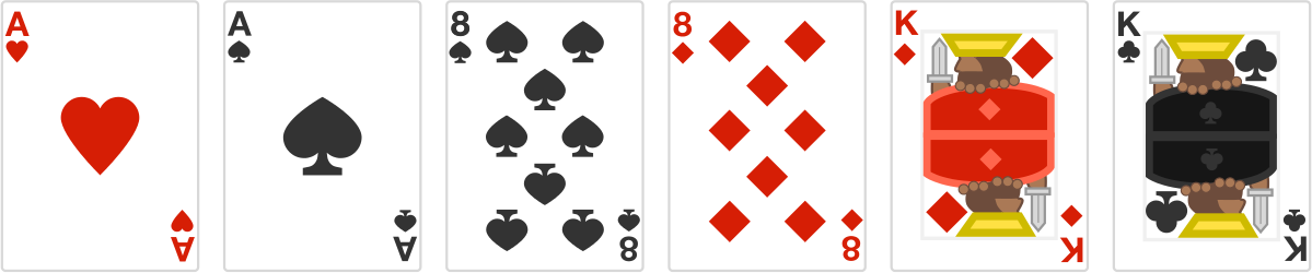 The image illustrates the first 6 cards of such an arrangement.