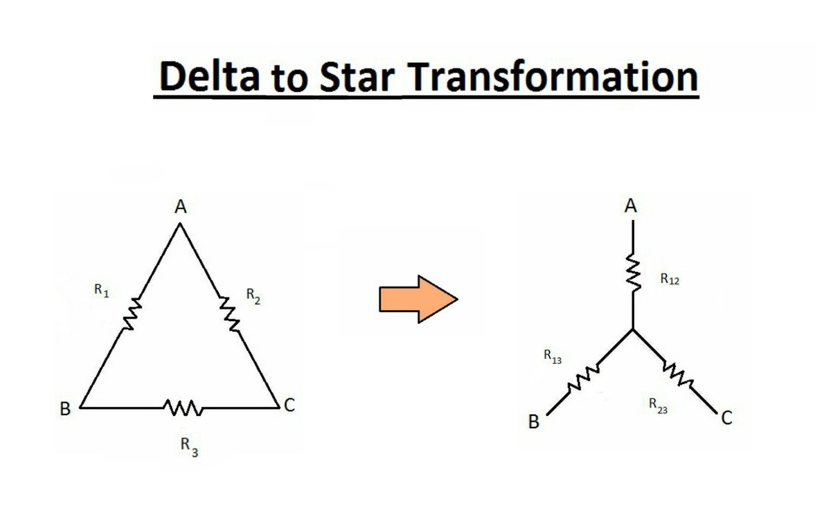 Transformation Of Resistances Star To Delta And By Simplifying The Circuit With Equivalent Ac We Get Here Is Formula For