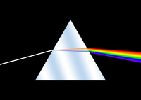 Light refracting in a prism: not just an album cover