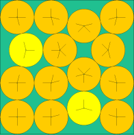A (very) irregular, but optimal, packing of 15 circles into a square