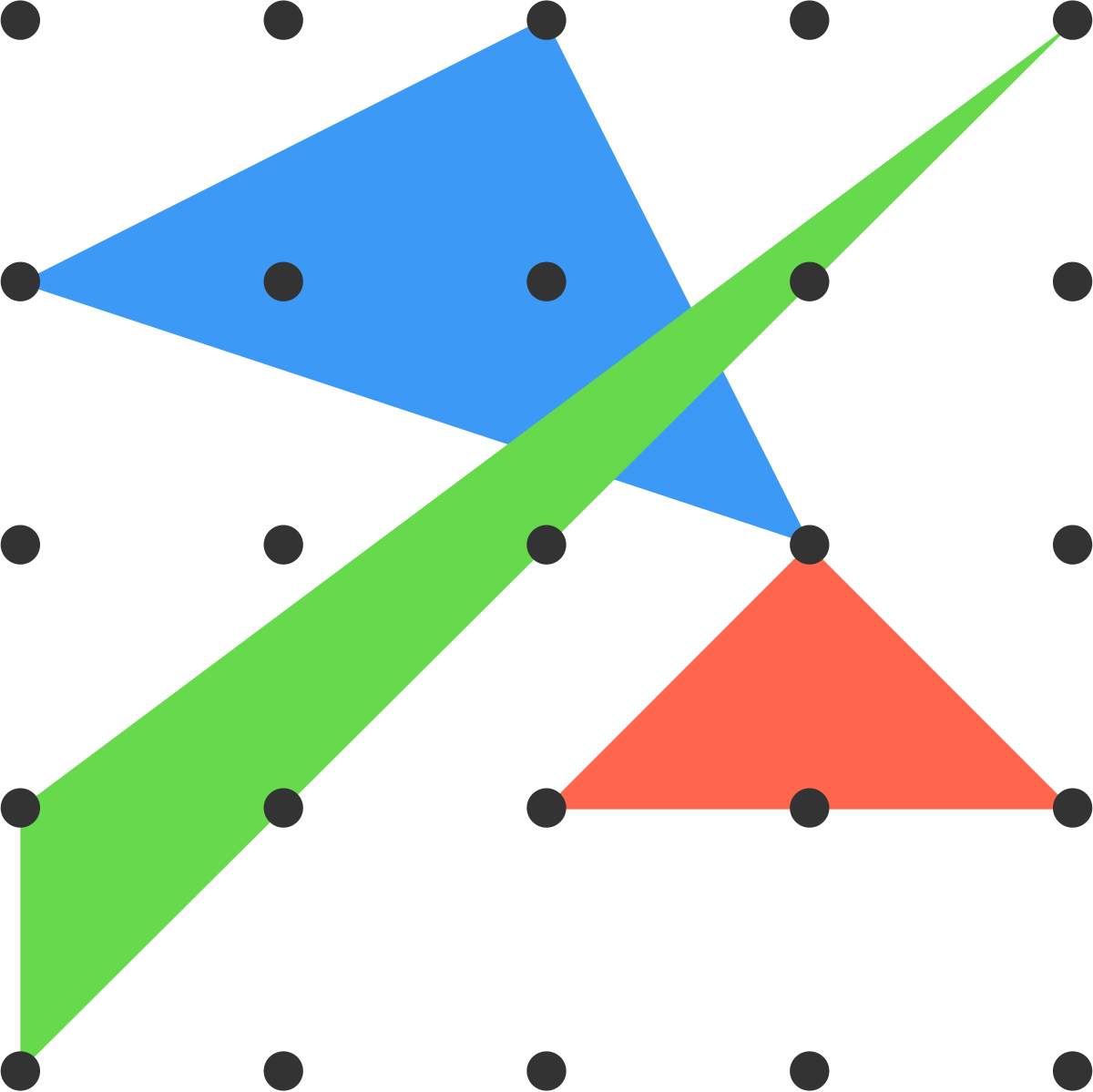 Three possible triangles are shown.