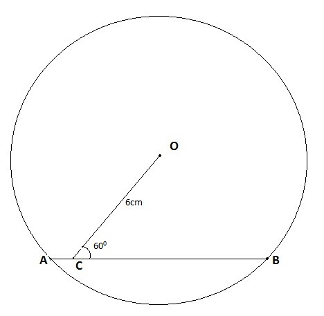 Geometry Problem: What is the length of the chord ? - Smit Kiri ...