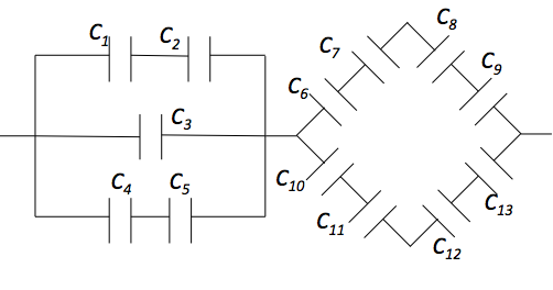 series and parallel capacitors practice problems online