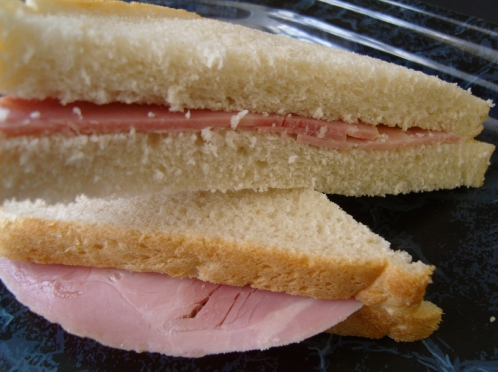 This is a ham sandwich.