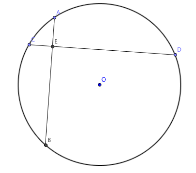 Geometry Problem On Extended Sine Rule Two Perpendicular Chords