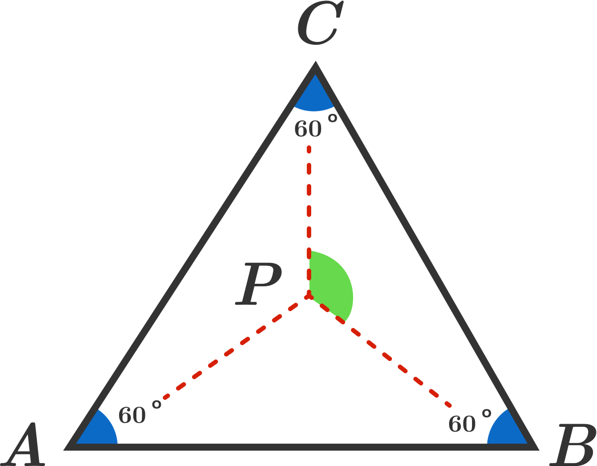 Given That –�abc Is An Equilateral Triangle, With A Point P Inside It Such  That Pa2=pb2+pc2, Find The Measure Of