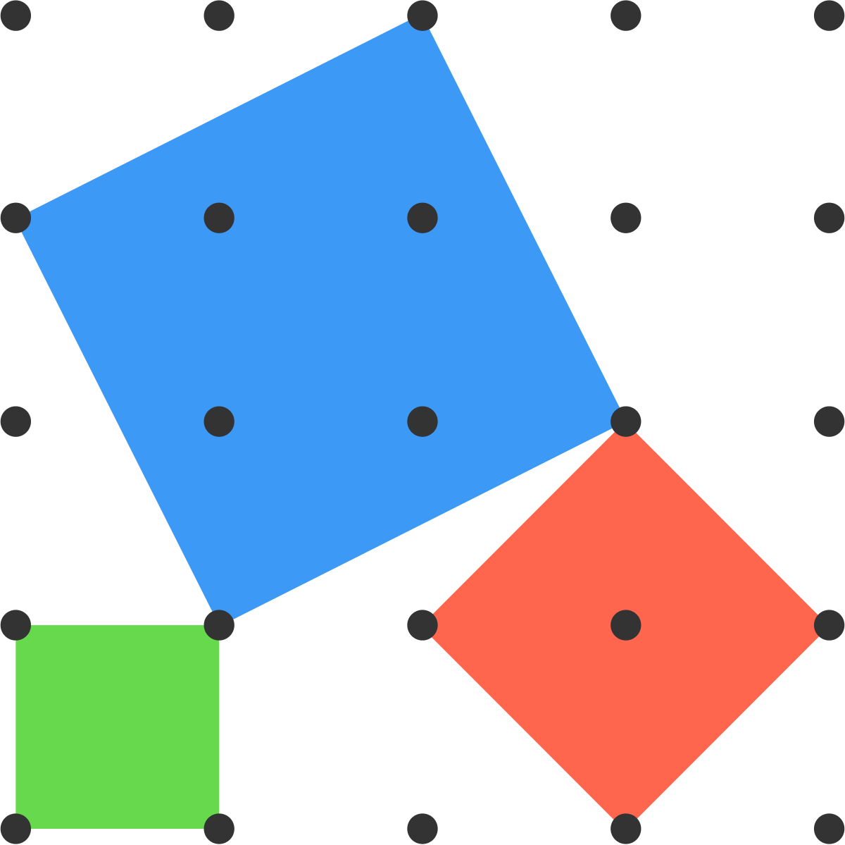 Three possible squares are shown.