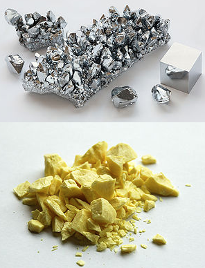 Metals and non metals brilliant math science wiki chromium a metal and sulfur a non metal urtaz Choice Image