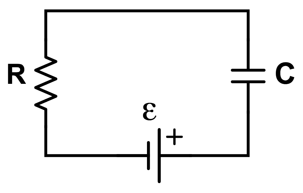 This is the diagram of a basic charging RC circuit.