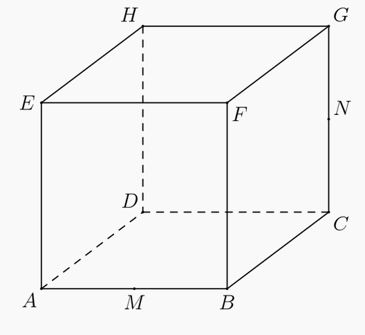 Cube referenced in the problem, from 2012 AIME I.