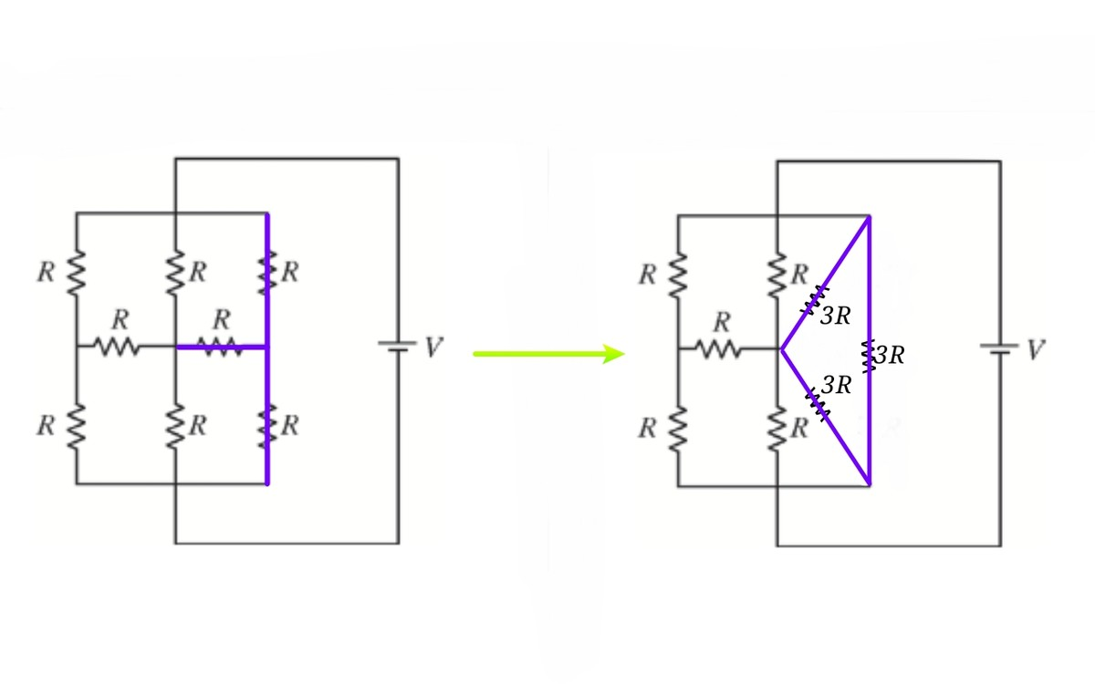 Square Circuit Equivalent Resistance Of Resistor Transformation Resistances Star To Delta And In Order Solve This Question We Will Transform The Apply Formula Side By