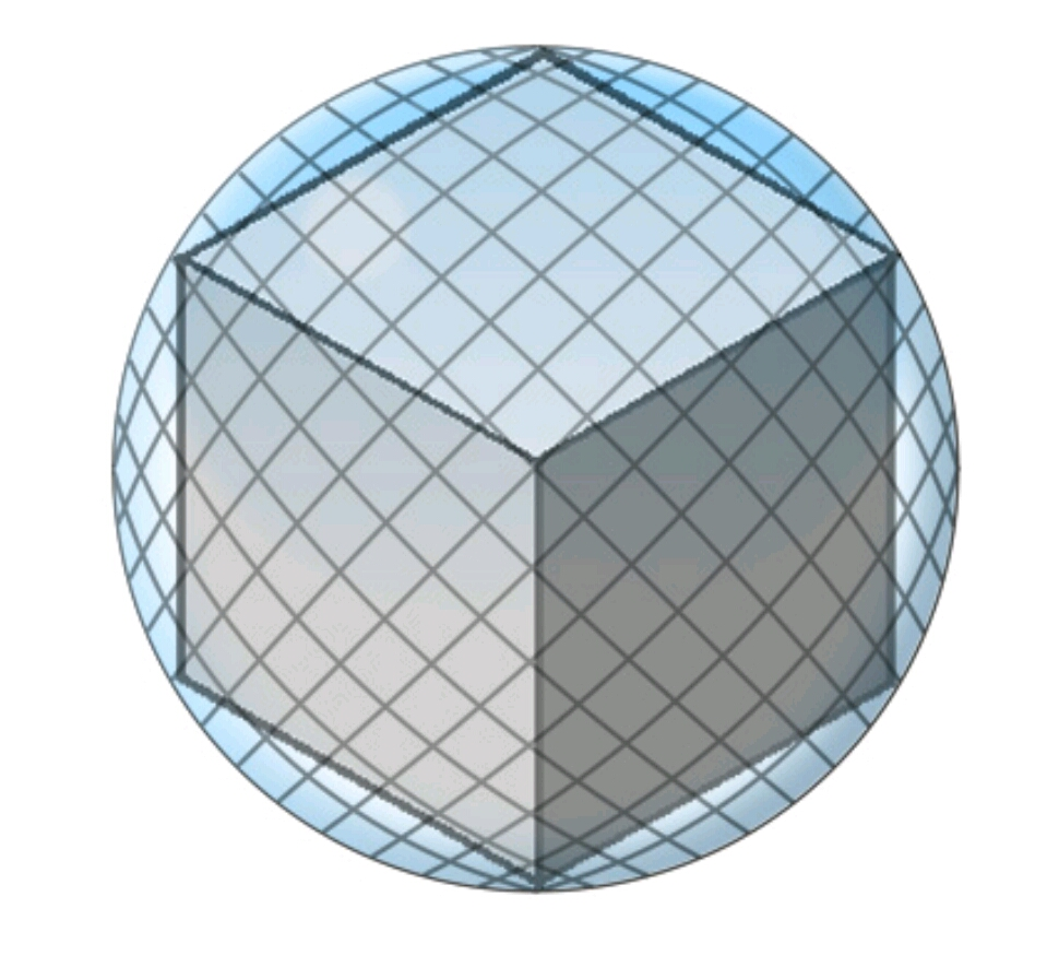 A Cube Rests Inside A Sphere Such That Each Vertex Touches The Sphere The  Radius Of The Sphere Is 6 Cm Determine The Volume Of The Cube