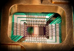 Part of a quantum computer designed by D-Wave