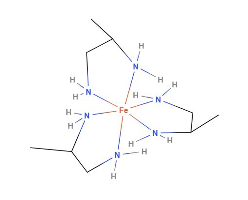 A complex of \(\ce {[Fe (Me-en)3]}^{3+}\)