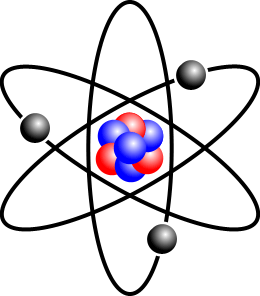 Diagrams of atoms are usually not drawn to scale. Image from Wikimedia Commons user Rainer Klute.