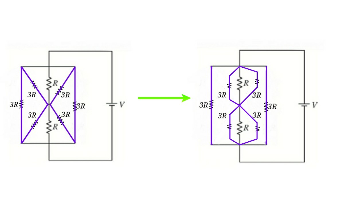 Transformation Of Resistances Star To Delta And Find Equivalent Resistance In This Circuit We Have Transformed A Complex Looking Into Simple Can Easily Solve