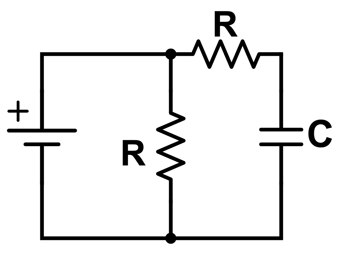 Rc circuits direct current brilliant math science wiki find the resistance of the circuit as seen by the battery after a very long time pooptronica Choice Image