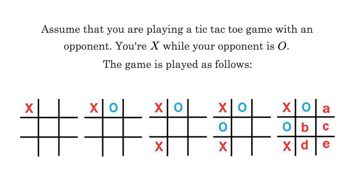 Logic Problem on Logic Puzzles - Basic Warmup: Tic Tac Toe ...